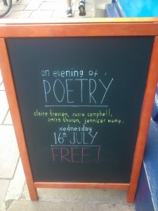 Come to Blackwell's Oxford 16th July for an evening of free poetry. 7pm.